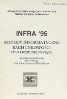 INFRA' 95 : systemy informatyczne rachunkowości - stan i kierunki postępu : materiały na konferencję