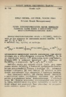 Szybka spektrofotometryczna metoda oznaczania śladowych ilości miedzi w metalicznej cynie dwuetylodwutiokarbaminianem ołowiu