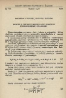 Badania w zakresie amoniakalnej hydrolizy fluorokrzemianu potasowego