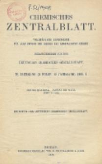 Chemisches Zentralblatt : vollständiges Repertorium für alle Zweige der reinen und angewandten Chemie, Jg. 79, Bd. 1, Nr. 1