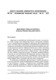 Modelowanie i symulacja kooperacji w sieciach produkcyjno-logistycznych
