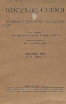 Roczniki Chemji : organ Polskiego Towarzystwa Chemicznego, T. 8, Z. 1-2