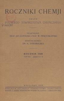 Roczniki Chemji : organ Polskiego Towarzystwa Chemicznego, T. 8, Z. 3-4