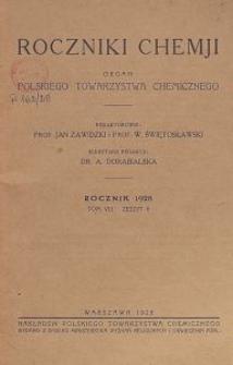 Roczniki Chemji : organ Polskiego Towarzystwa Chemicznego, T. 8, Z. 6