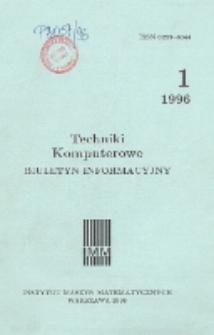 Techniki Komputerowe : biuletyn informacyjny. R. 31. Nr 1