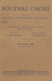 Roczniki Chemji : organ Polskiego Towarzystwa Chemicznego, T. 8, Z. 9