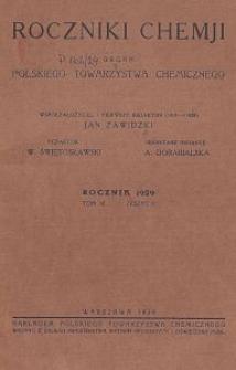 Roczniki Chemji : organ Polskiego Towarzystwa Chemicznego, T. 9, Z. 2