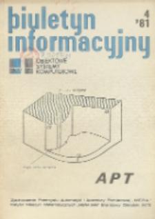 Biuletyn Informacyjny. Obiektowe Systemy Komputerowe, R. 19, Nr 4