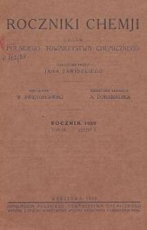 Roczniki Chemji : organ Polskiego Towarzystwa Chemicznego, T. 9, Z. 5