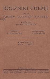 Roczniki Chemji : organ Polskiego Towarzystwa Chemicznego, T. 9, Z. 6