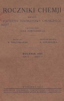 Roczniki Chemji : organ Polskiego Towarzystwa Chemicznego, T. 9, Z. 8