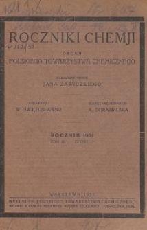 Roczniki Chemji : organ Polskiego Towarzystwa Chemicznego, T. 11, Z. 7