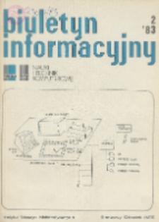 Biuletyn Informacyjny. Nauki i Techniki Komputerowe, R. 21, Nr 2