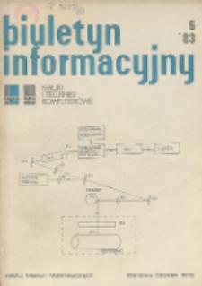 Biuletyn Informacyjny. Nauki i Techniki Komputerowe, R. 21, Nr 6