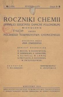 Roczniki Chemii : organ Polskiego Towarzystwa Chemicznego, T. 19, Z. 1-2