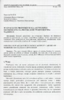 Wyznaczanie przestrzeni dla aktywności ekonomicznej na przykładzie województwa śląskiego