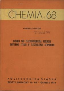 Badania nad elektrochemiczną redukcją dwutlenku tytanu w elektrolitach stopionych