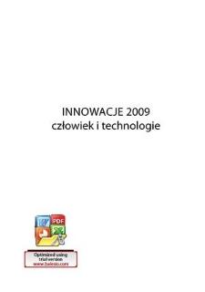 Innowacje 2009 : człowiek i technologie