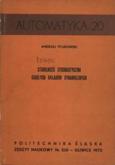 Stabilność stochastyczna ciągłych układów dynamicznych