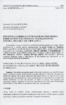 """Struktura zachowań użytkowników przestrzeni rekreacyjnych na teranach mieszkaniowych (osiedle """"Polanka"""" we Wrocławiu)"""