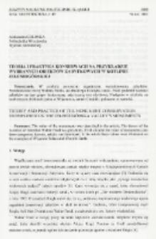 Teoria i praktyka konserwacji na przykładzie wybranych obiektów zabytkowych w Kotlinie Jeleniogórskiej