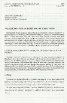 Projekt badań krajobrazu doliny Małej Panwi