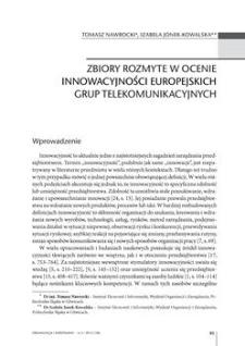 Zbiory rozmyte w ocenie innowacyjności europejskich grup telekomunikacyjnych