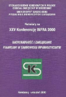 """Materiały na XXV Konferencję INFRA 2000 """"Rachunkowość i zarządzanie finansami w środowisku informatycznym"""""""