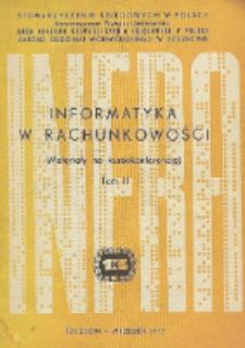 Informatyka w rachunkowości: materiały na kursokonferencję. Tom 2