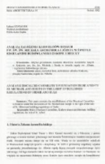 Analiza założenia Karmelitów Bosych pw. św. św. Michała Archanioła i Józefa w świetle regulaminu budowlanego zakonu i reguły