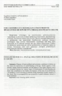 Idee i historyczne rozwiązania przestrzenne społecznego budownictwa mieszkaniowego w Europie