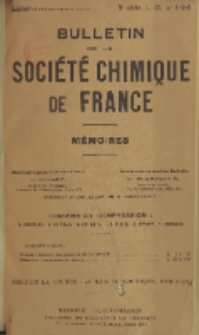 Bulletin de la Société Chimique de France. Mémoires, 5 série, T. 12, n. 1-3