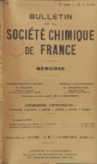 Bulletin de la Société Chimique de France. Mémoires, 5 série, T. 12, n. 4-6