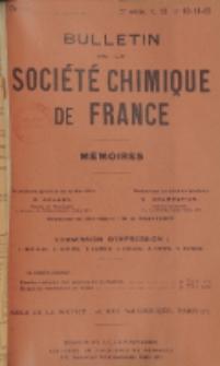 Bulletin de la Société Chimique de France. Mémoires, 5 série, T. 12, n. 10-12
