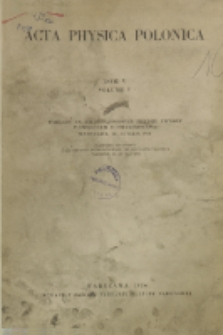 Acta Physica Polonica, Vol. 5