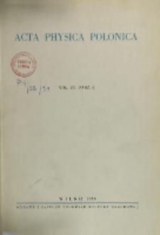 Acta Physica Polonica, Vol. 7, Z. 4