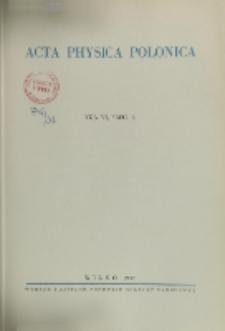 Acta Physica Polonica, Vol. 6, Z. 2