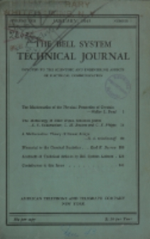 The Bell System Technical Journal : devoted to the Scientific and Engineering aspects of Electrical Communication, Vol. 24, No. 1
