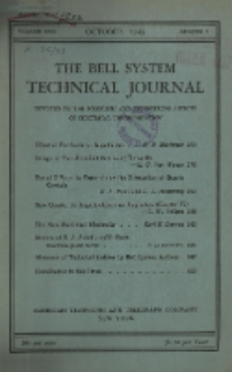 The Bell System Technical Journal : devoted to the Scientific and Engineering aspects of Electrical Communication, Vol. 22, No. 3