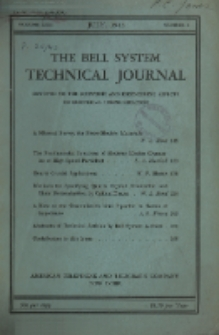 The Bell System Technical Journal : devoted to the Scientific and Engineering aspects of Electrical Communication, Vol. 22, No. 2