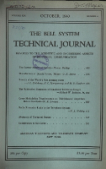The Bell System Technical Journal : devoted to the Scientific and Engineering aspects of Electrical Communication, Vol. 19, No. 4
