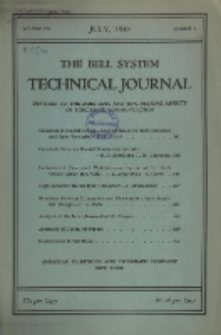The Bell System Technical Journal : devoted to the Scientific and Engineering aspects of Electrical Communication, Vol. 19, No. 3