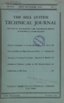 The Bell System Technical Journal : devoted to the Scientific and Engineering aspects of Electrical Communication, Vol. 24, No. 3-4