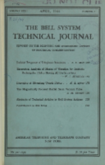 The Bell System Technical Journal : devoted to the Scientific and Engineering aspects of Electrical Communication, Vol. 23, No. 2