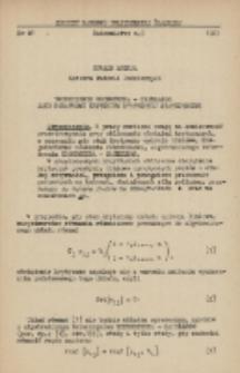 Twierdzenie Kroneckera-Capellego jako dodatkowe kryterium statycznej stateczności