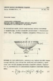 Poszukiwanie optymalnego kształtu osiowo symetrycznego ustroju wiszącego równomiernie powierzchniowo obciążonego