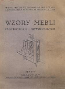 Wzory Mebli Zabytkowych i Nowoczesnych. Zeszyt 9-10