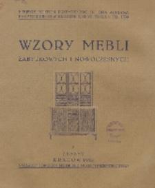Wzory Mebli Zabytkowych i Nowoczesnych. Zeszyt 8