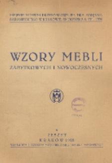 Wzory Mebli Zabytkowych i Nowoczesnych. Zeszyt 6