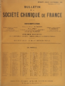 Bulletin de la Société Chimique de France. Documentation, Fascicules n. 7-9